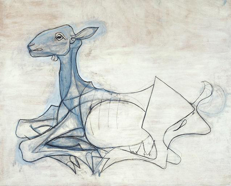 Картина Пабло Пикассо. Коза. 1946