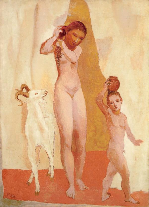 Картина Пабло Пикассо. Девушка с козой. 1906