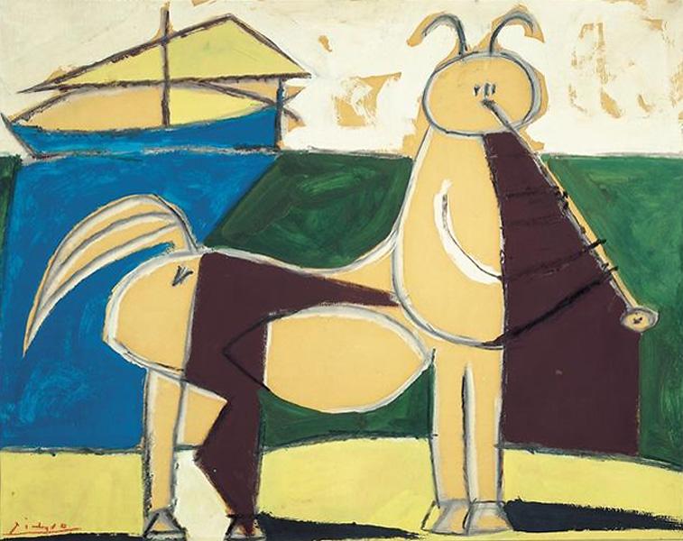 Картина Пабло Пикассо. Кентавр и корабль. 1946