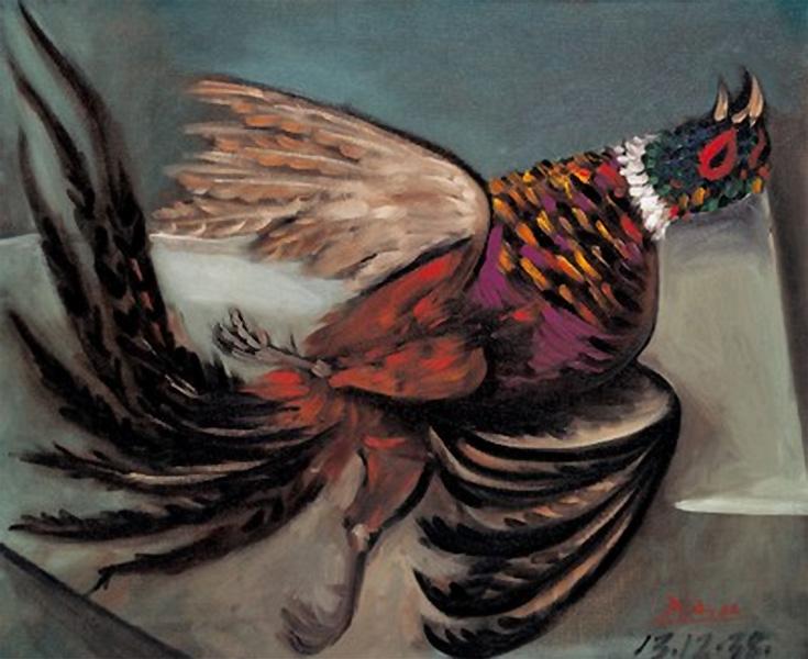 Картина Пабло Пикассо. Фазан. 1938
