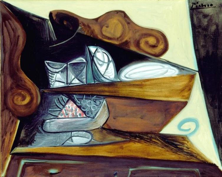 Картина Пабло Пикассо. Буфет в `Каталонце`. 1943