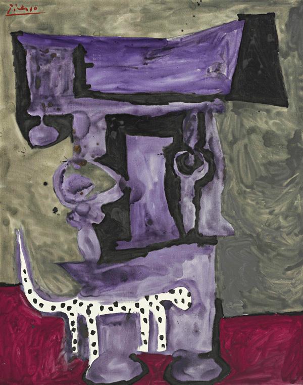 Картина Пабло Пикассо. Далматинец. 1959 ($2,3 млн)