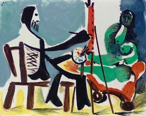 Картина Пабло Пикассо. Художник и модель. 1963 ($2,8 млн)