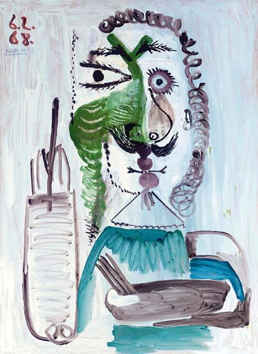 Картина Пабло Пикассо. Художник. 1968 ($3,5 млн)