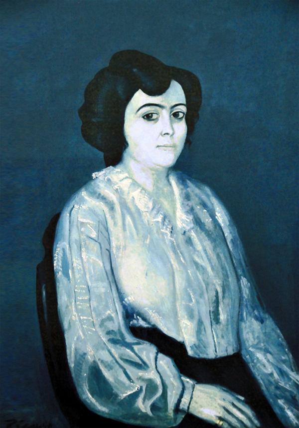 Картина Пабло Пикассо. Портрет мадам Солер. 1903