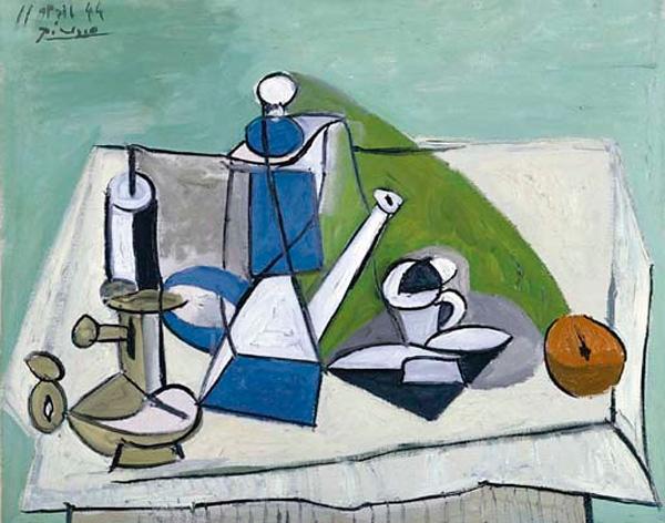 Картина Пабло Пикассо. Натюрморт с кофейником. 1944 ($4,4 млн)