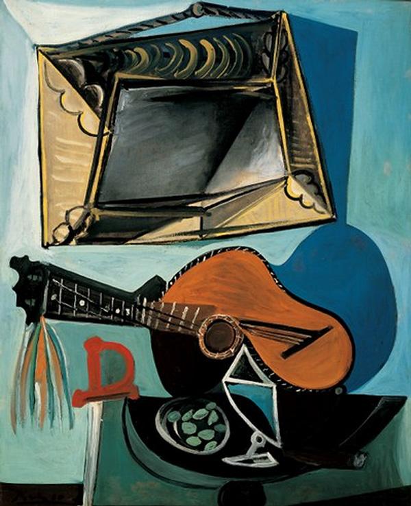 Картина Пабло Пикассо. Натюрморт с гитарой. 1942