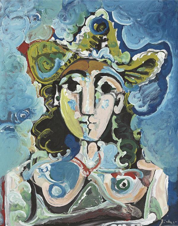 Картина Пабло Пикассо. Обнаженная в шляпе, бюст. 1965 ($3,7 млн)
