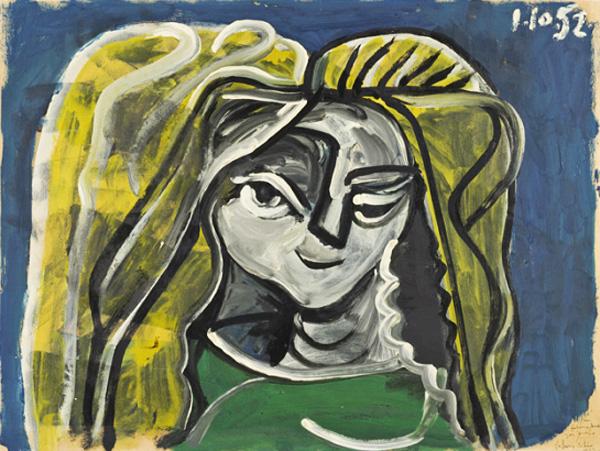 Картина Пабло Пикассо. Портрет Элен Пармелен. 1952