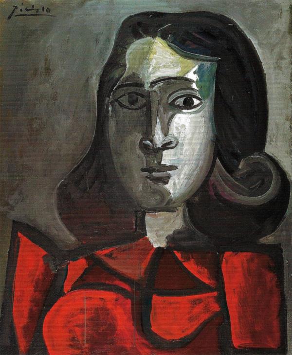 Картина Пабло Пикассо. Портрет Доры Маар. 1943