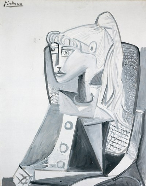 Картина Пабло Пикассо. Сильветт 2. 1954