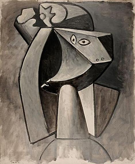 Картина Пабло Пикассо. Голова женщины. 1947