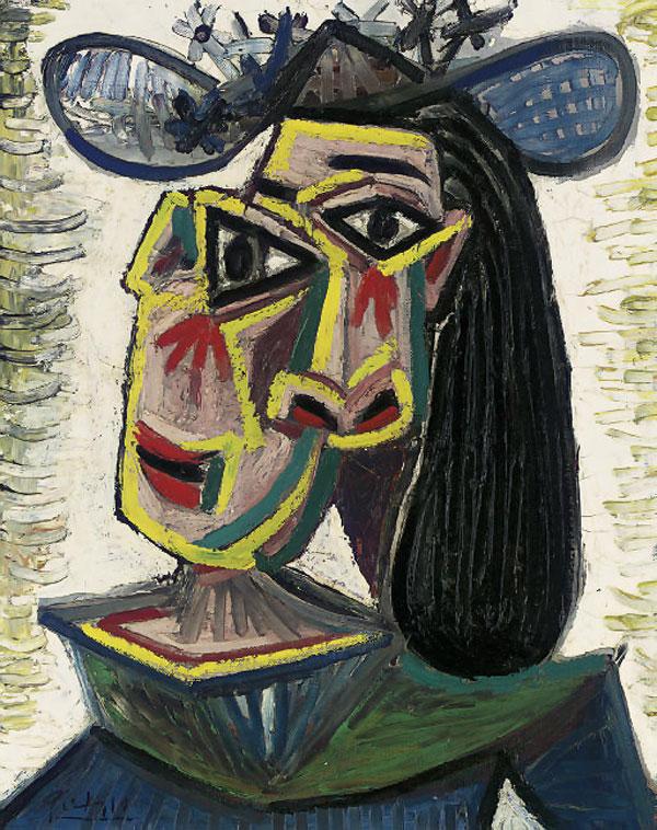 Картина Пабло Пикассо. Голова женщины (Дора Маар). 1941 ($16,3 млн)