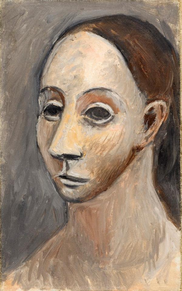 Картина Пабло Пикассо. Голова женщины. 1906