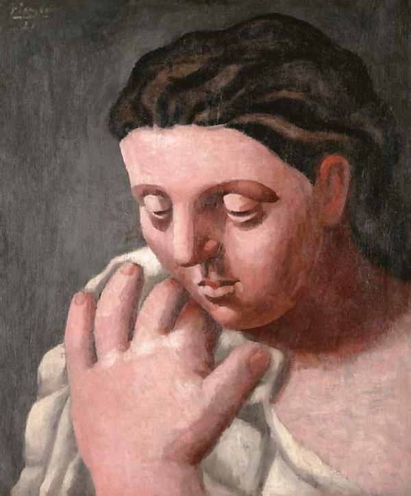 Картина Пабло Пикассо. Голова и рука женщины. 1921 ($13,5 млн)