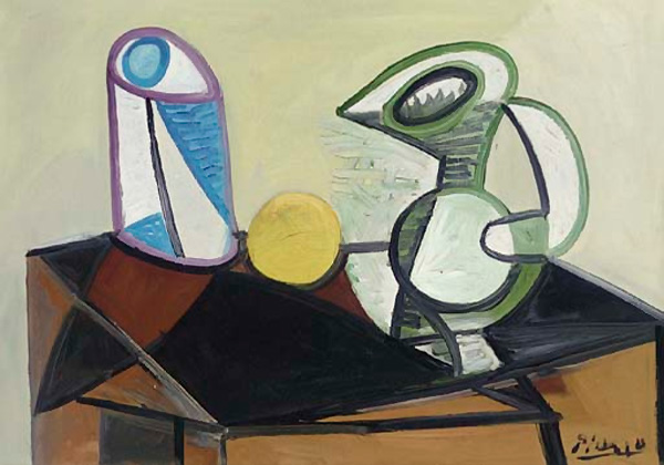 Картина Пабло Пикассо. Бокал и кувшин. 1944 ($2,2 млн)