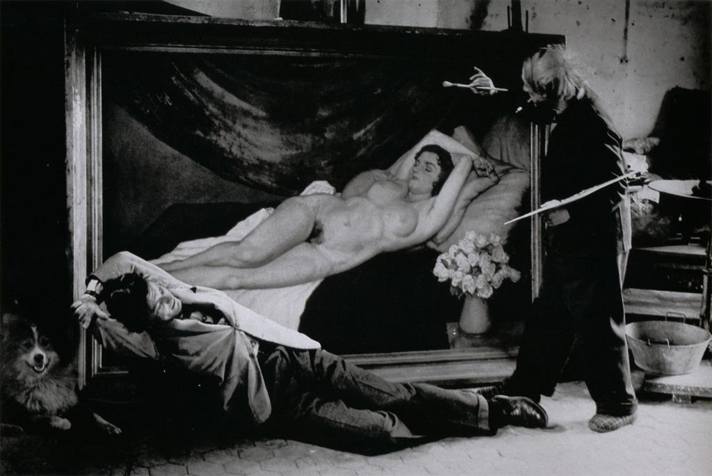 Пикассо «рисует» Жана Маре, Париж, 1944. Фото — Брассай