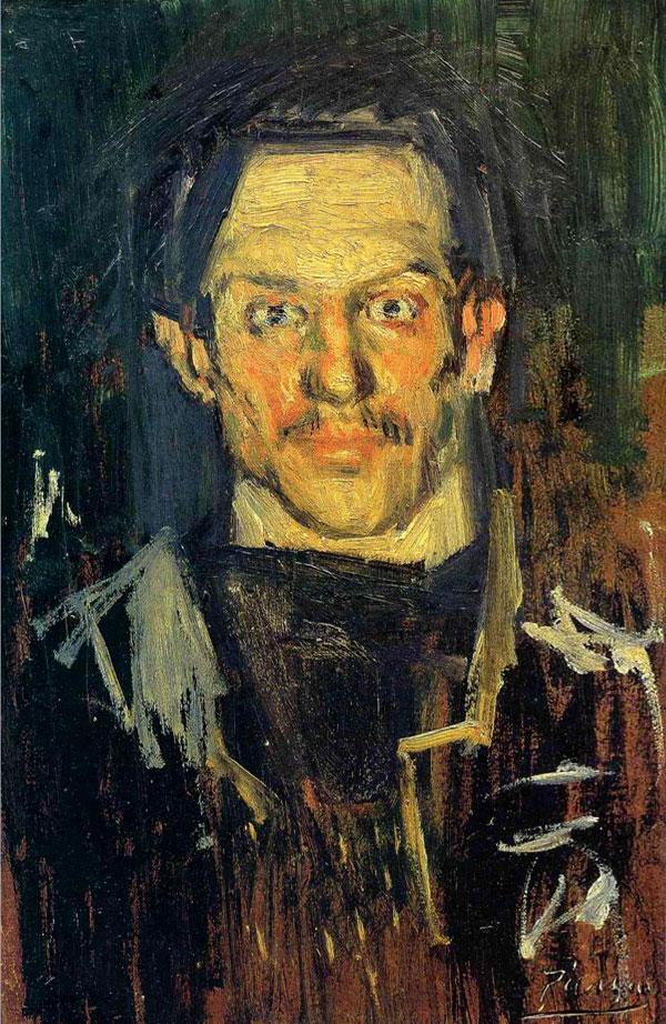 Картина Пабло Пикассо. Автопортрет. 1901