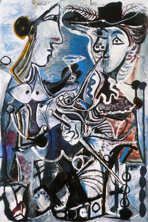 Картина Пабло Пикассо. Пара. 1967