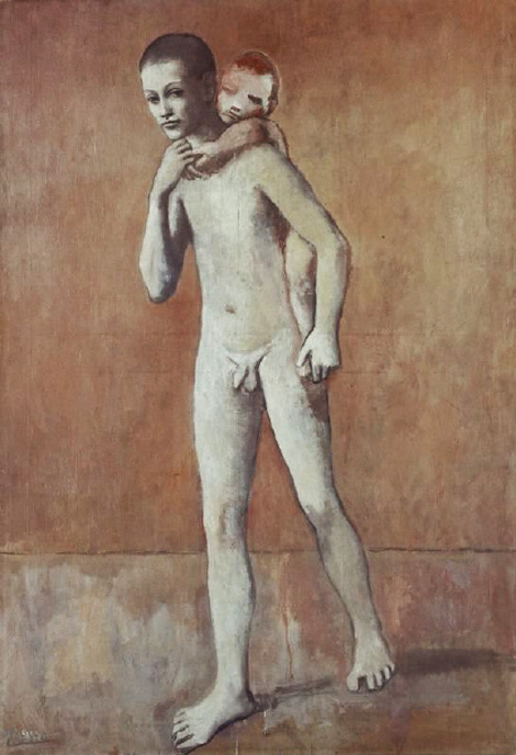 Картина Пабло Пикассо. Два брата. 1906
