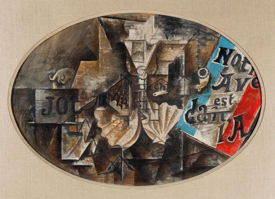 Картина Пабло Пикассо. Наше будущее в воздухе. 1912