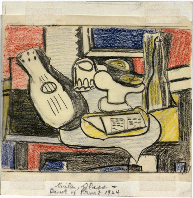 Roy-Lichtenstein-Still-Life-Still-Life-After-Picasso_1964_Study