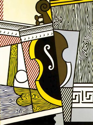 Roy-Lichtenstein_Cubist-Still-Life-with-Cello_1974