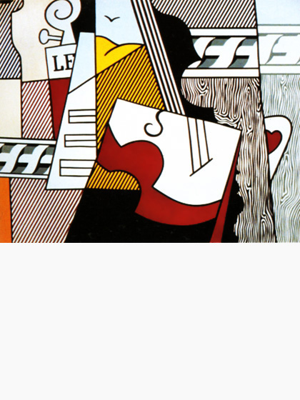 Roy-Lichtenstein_Cubist-still-life-pop-art_1974