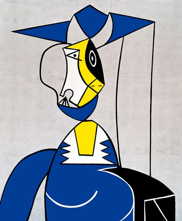 Roy-Lichtenstein_Femme-au-Chapeau_1962