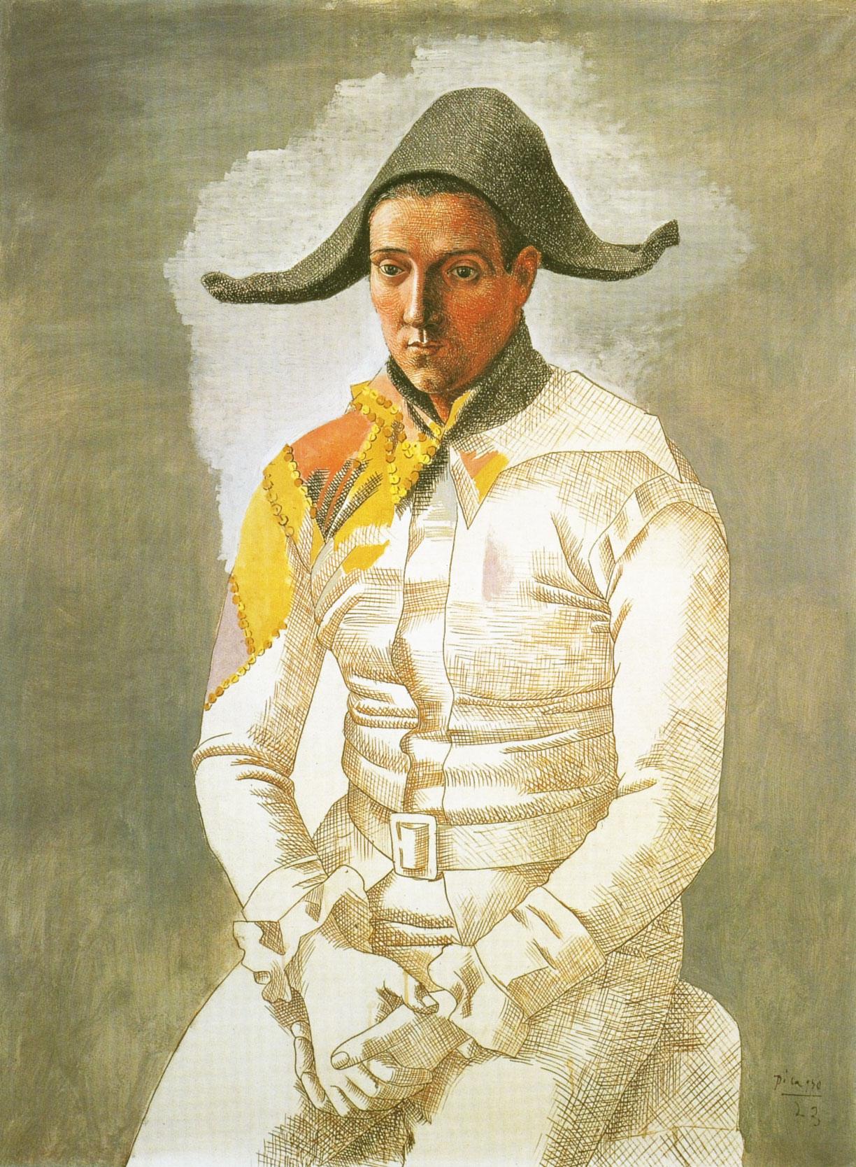 Pablo Picasso. Arlequin (Le-peintre-Salvado) 1923