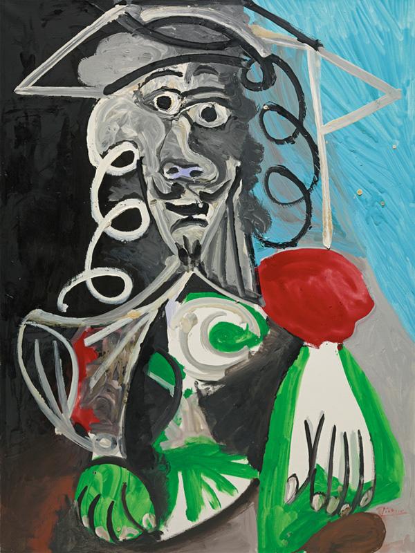 Картина Пабло Пикассо. Бюст мужчины. 1969 ($9,7 млн)