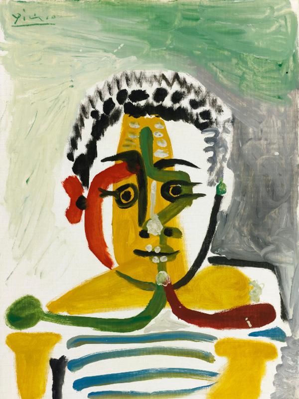 Картина Пабло Пикассо. Бюст мальчика. 1964