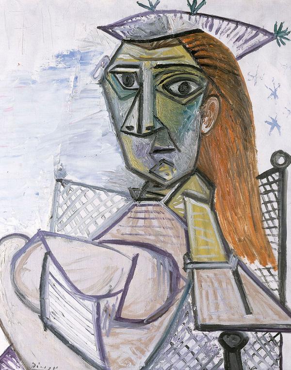 Картина Пабло Пикассо. Женщина, сидящая в кресле. 1941