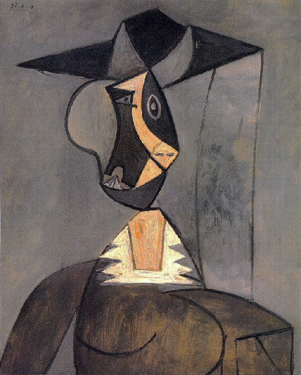 Картина Пабло Пикассо. Женщина в сером. 1942