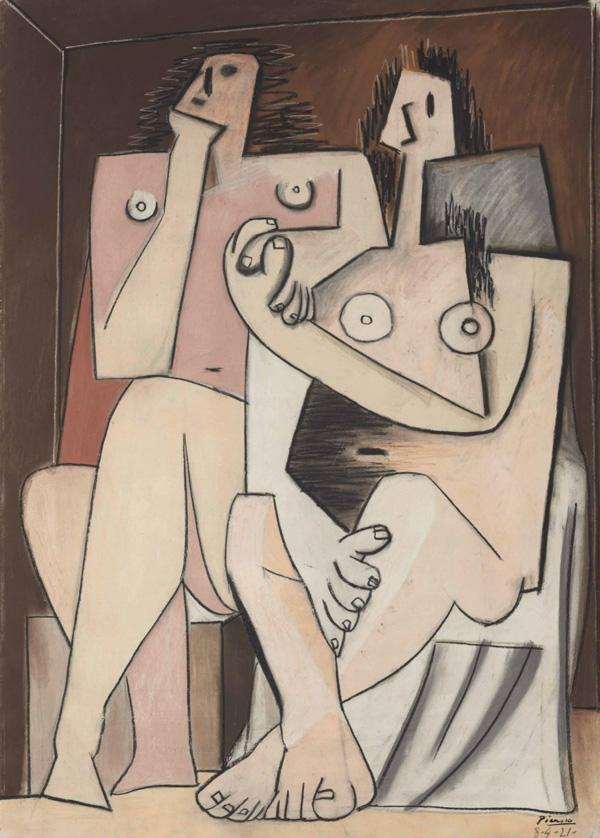 Картина Пабло Пикассо. Мужчина и женщина. 1921 ($6,2 млн)