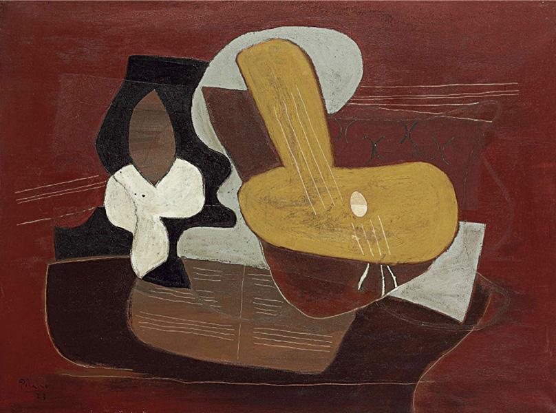 Картина Пабло Пикассо. Натюрморт с мандолиной. 1923 ($9,2 млн)