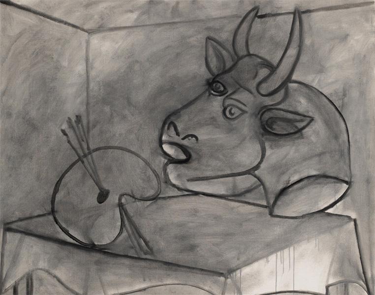 Картина Пабло Пикассо. Палитра и голова быка. 1938 ($1,8 млн)