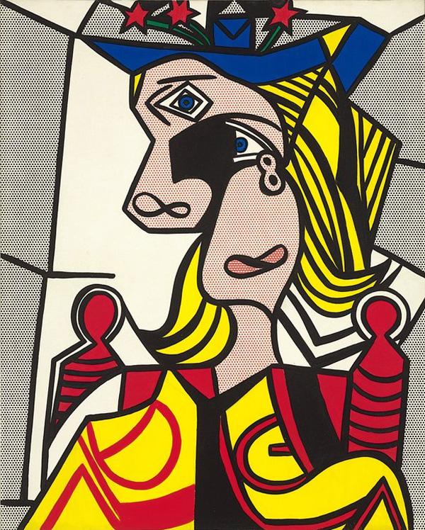Roy-Lichtenstein_Woman-with-Flowered-Hat_1963