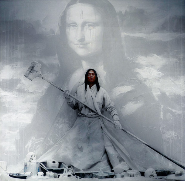 Yan-Pei-Ming_Mona-Lisa