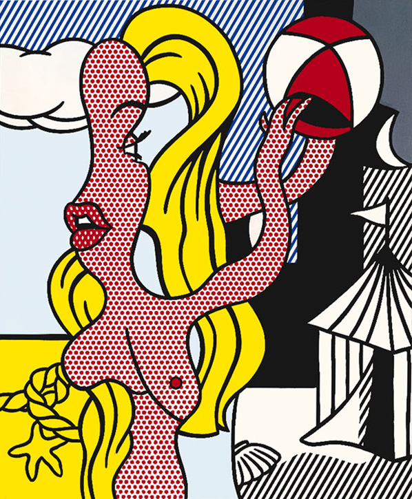 Roy-Lichtenstein_Girl-with-Beach-Ball-II_1977