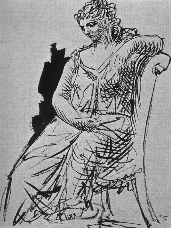 Картина Пабло Пикассо. Сидящая женщина. 1923