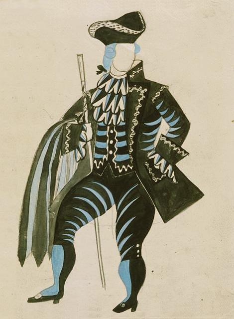Пабло Пикассо. Костюмы к балету Треуголка. 1919
