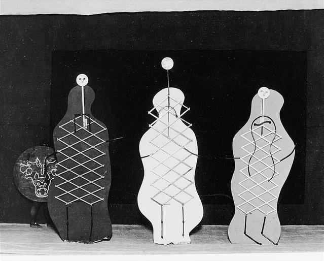 Декорации Пикассо к балету меркурий, 1924 - Три грации и Цербер