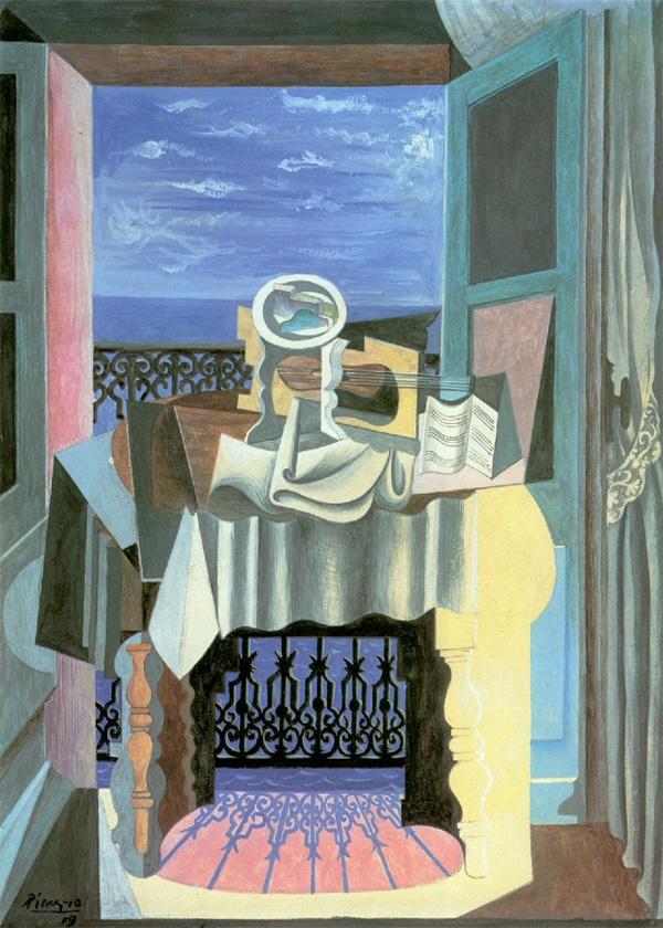 Картина Пабло Пикассо. Натюрморт у окна в Сен-Рафаэле. 1919