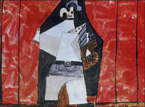 Этюд Пикассо к балету Пульчинелла, 1920