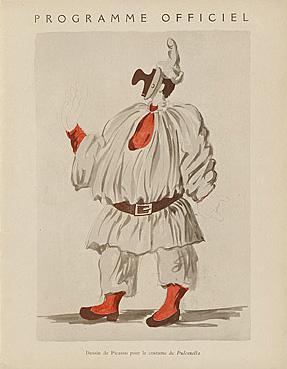 Программка к балету Пульчинелла с рисунком Пикассо