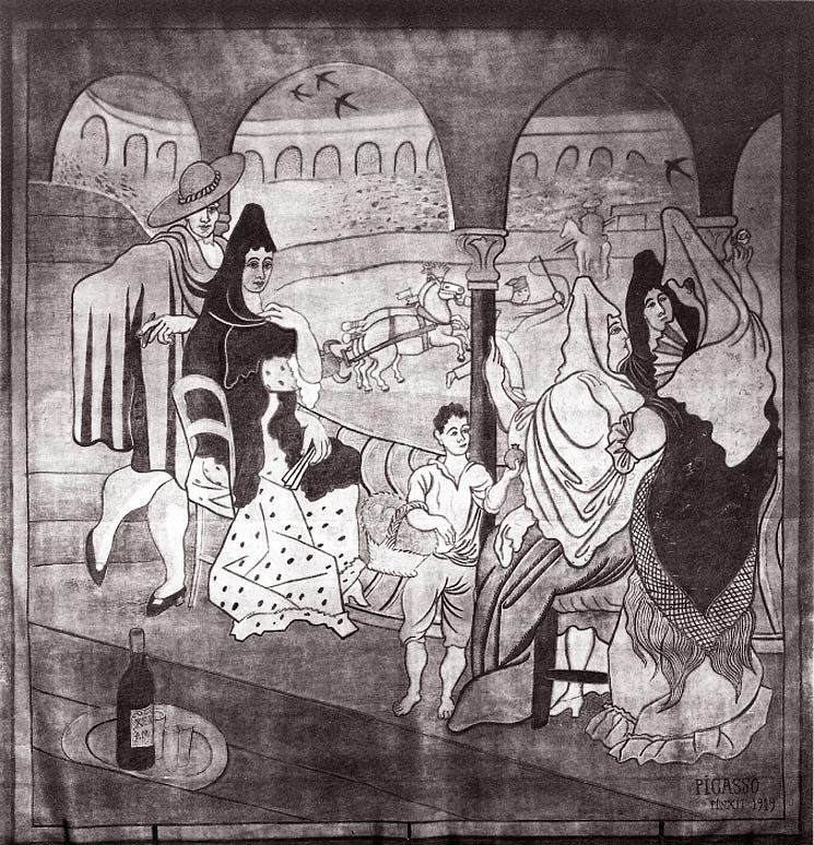 Pablo-Picasso_Rideau-pour-Le-Tricorne_1_1919