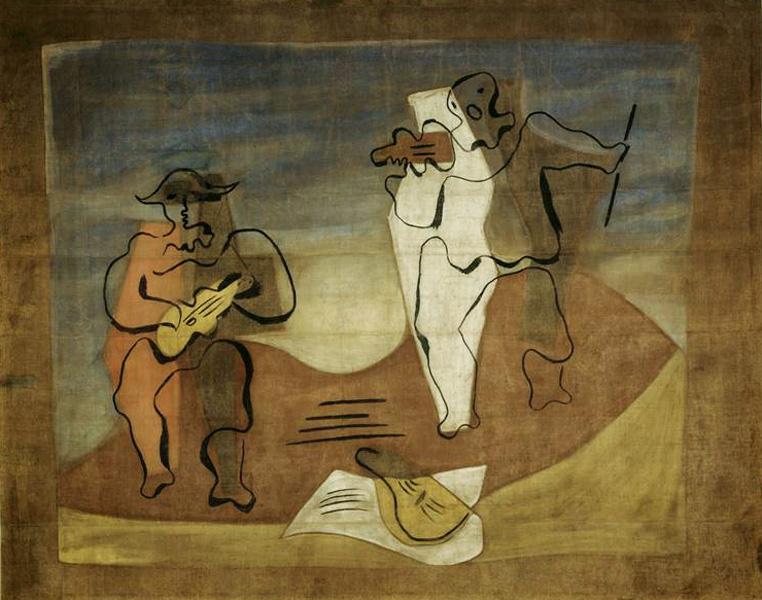 Пабло Пикассо. Занавес к балету Меркурий (Музыка). 1924