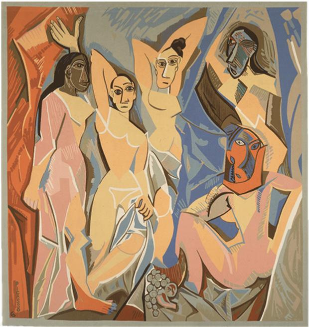 Гобелен Авиньонские девицы, 1958 - по картине Пикассо 1907 года