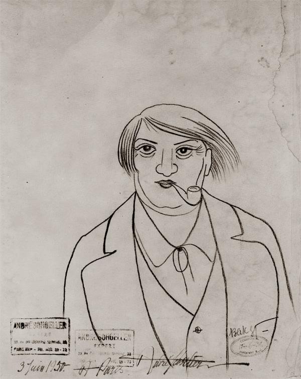 Леон Бакст - Портрет Пабло Пикассо, ок. 1917